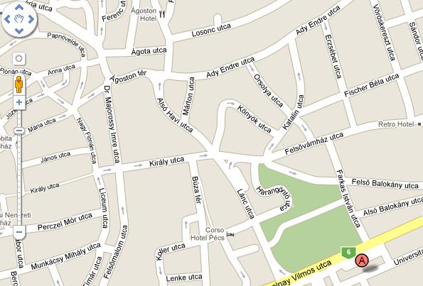pécs belváros térkép Tudásközpont pécs belváros térkép